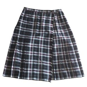 VINTAGE ALLAIRDS Plaid Skirt Size 16 Made in Canada